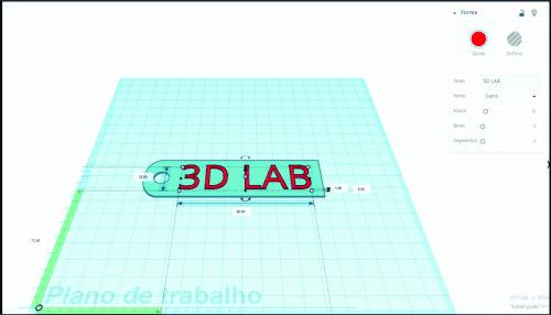 3D Lab no Tinkercad