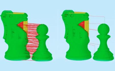 Múltiplos processos de impressão 3D com modo de impressão sequencial