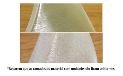 Como identificar a umidade no filamento