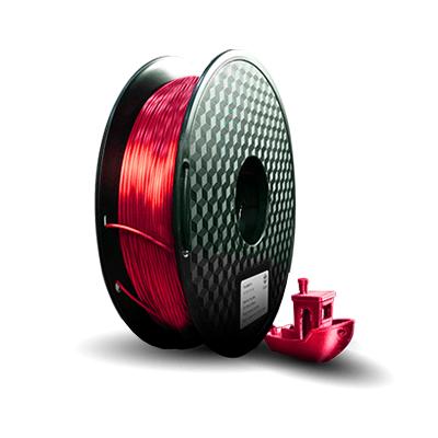 filamento pla ultra silk vermelho