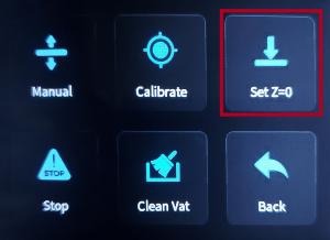 Nivelamento de mesa - salvando configurações