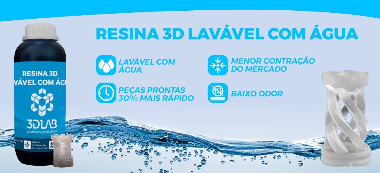 Resina 3D Lavável à água