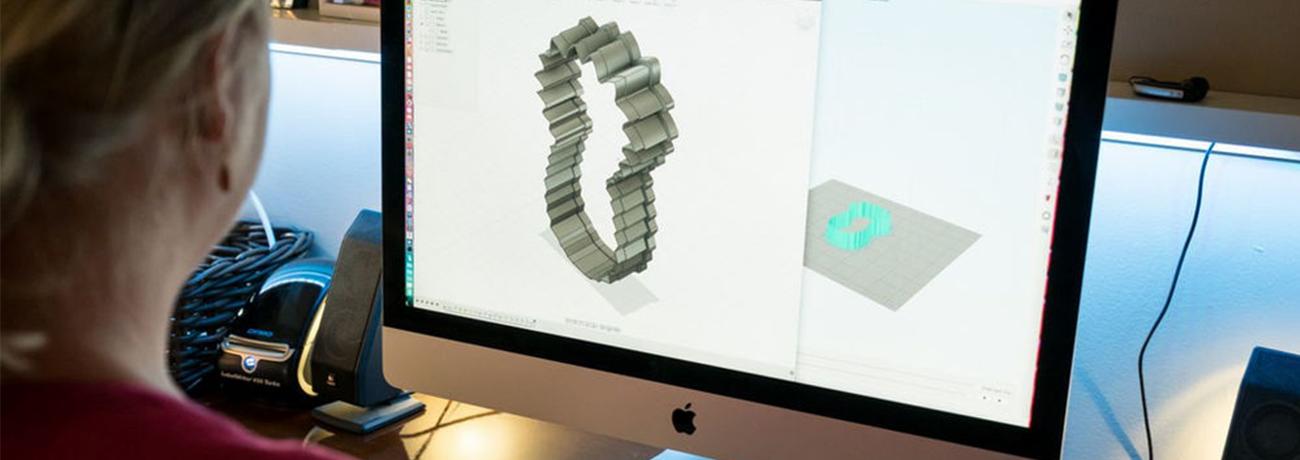 Modelagem de impressão 3D para confeitaria.
