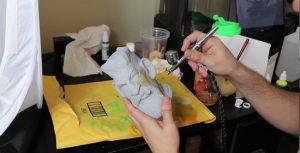 Pintura aerógrafo em impressão 3D