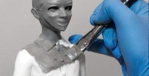 Pintura à mão em impressão 3D