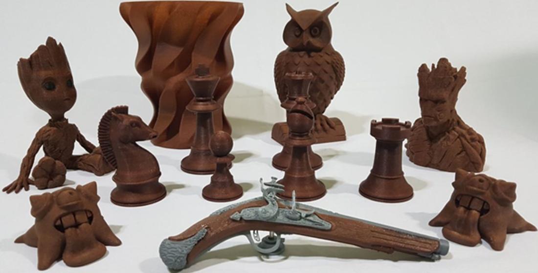 Tipos de filamentos para impressoras 3D: Wood