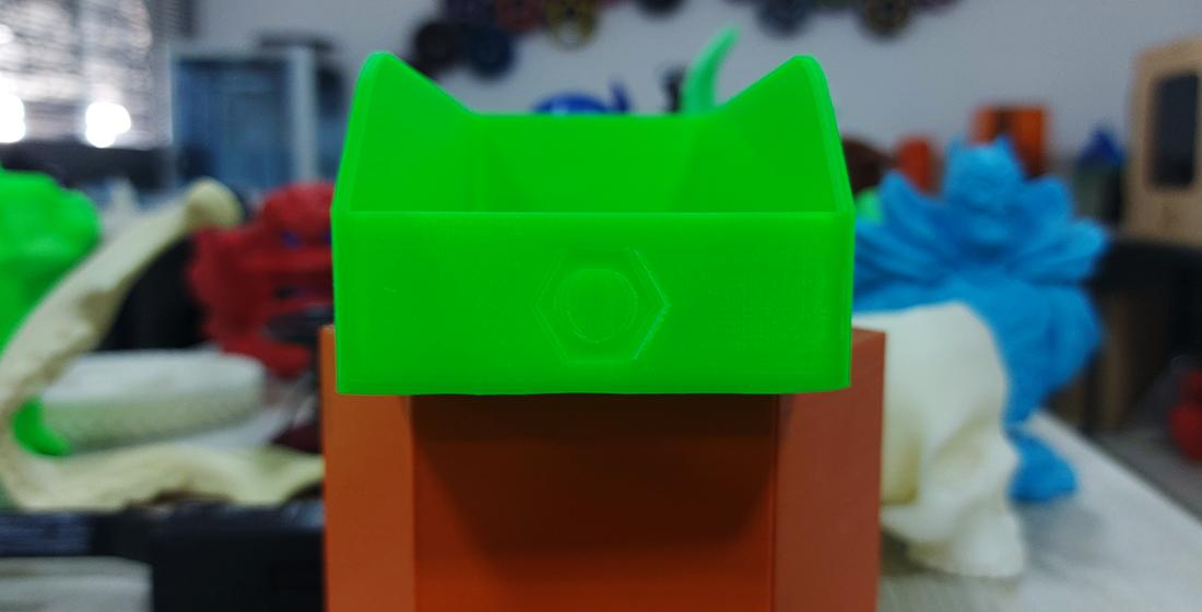 Acabamento em PLA com resina 3D