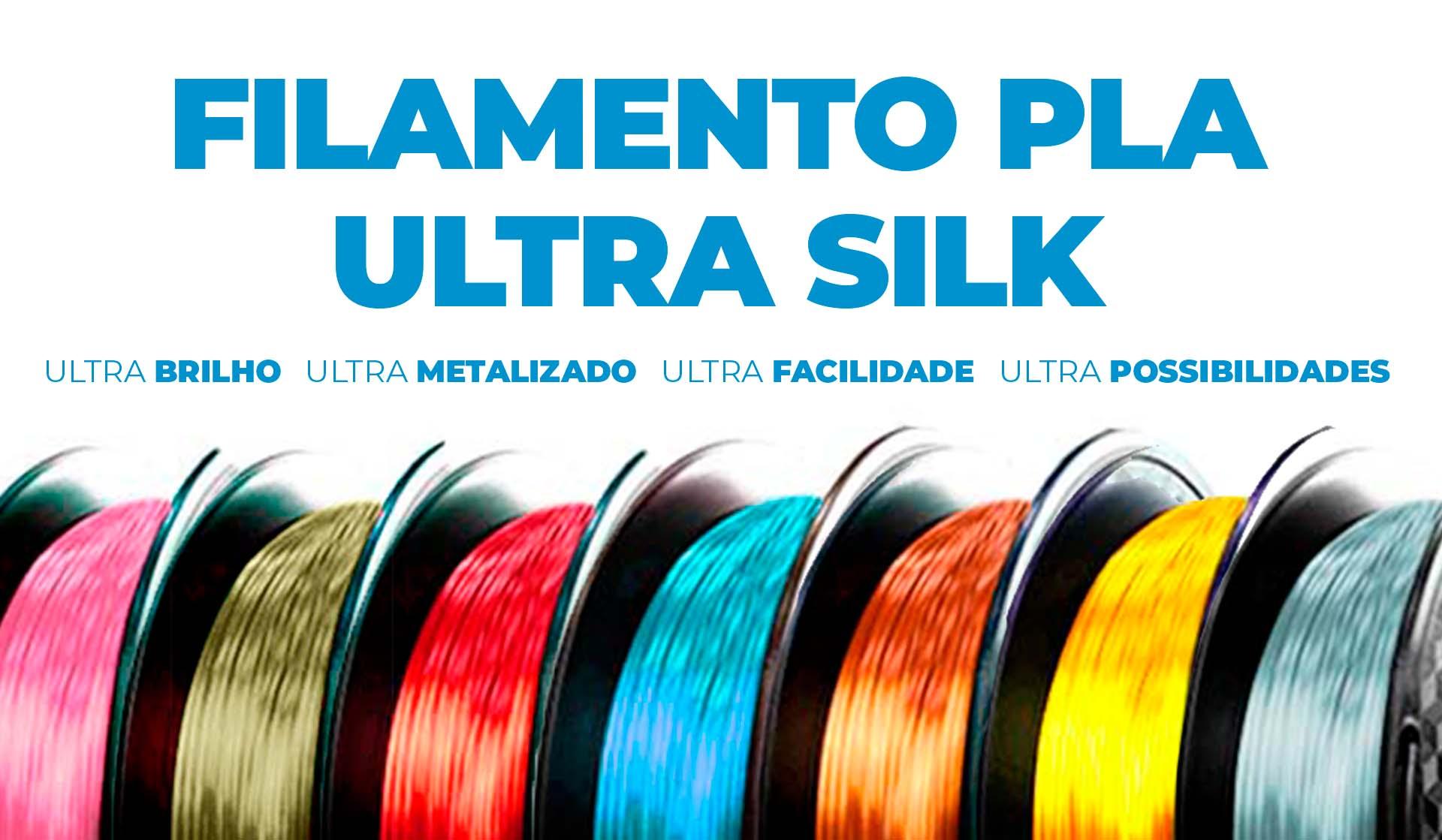 linha de filamentos pla ultra silk
